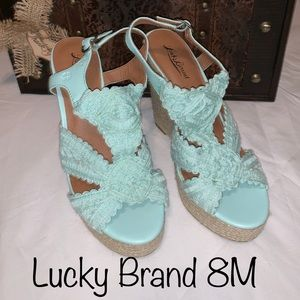 Lucky Brand Ridgeview wedges size 8
